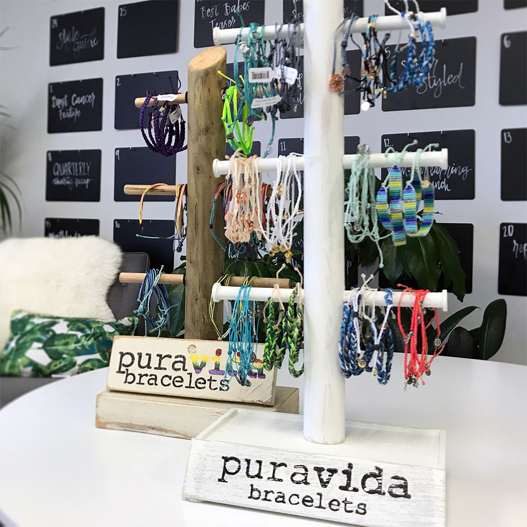 Image of bracelets in display